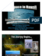 2009 newspace presentation (hawaii) - smaller