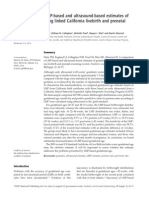 A Comparison of LMP-Based and Ultrasound-based Estimates of Gestasinal Age