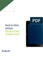 Tablet Market Research Decembre 2010