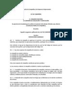 Actualizacion Enero 2014 de la Ley de Compañías y de Empresas Unipersonales