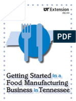 Gettingstarted in a Food Manufacturing Business