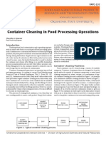 Container Cleaning in Food Processing Operations