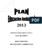 Plan Ambiental y de Gestion de Riesgo 2013
