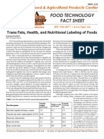 Trans Fats Health and Nutritional Labeling of Foods
