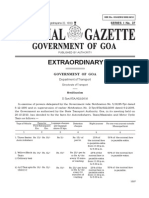 Taxi Hiring Rates Goa Gazette