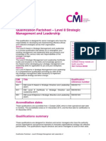 Level 8 StrategicDirectionLeadership ACD FactSheet