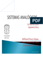SISTEMAS ANALOGOS filtros