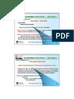 Economia Politica i - Teoricas - Aula 14 - 2013-2014