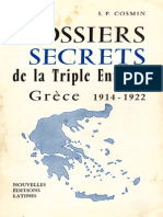 Cosmin s.p Dossiers Secrets de La Triple Entente Grece 1914-1922
