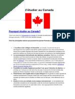 10 raisons d'étudier au Canada