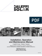 Caleffi Solar Thermal Hot Water Package Installation Manual