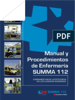 Manual y Procedimientos de Enfermería SUMMA 112. 2012