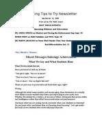 Teaching Tips to Try Newsletter September 13, 2009