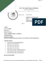 Final 1-7-14 City of Saratoga Springs CC Agenda