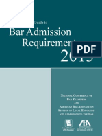 Bar Admission Requirements