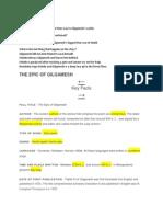 Gilgamesh Notes