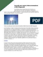 Energia, Terna accordo per nuova interconnessione Italia-Francia da 500 Megawatt