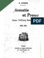 Cosmin Diplomatie Et Prece Dans l Affaire Greque