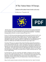 The End of the Nation States of Europe (The Irish Referendum on the Lisbon Treaty 2009).