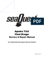Apeks T20 1st Stage Service Manual