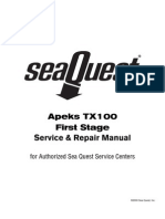 Apeks TX100 1st Stage Service Manual