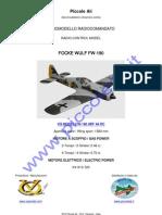 VQ MODEL FOCKE WULF FW-190 RC ARF CLASSE 46