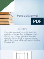 Pendulul Maxwell