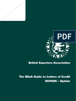 The BExA Guide to Letters of Credit - UCP600 – Update 2007
