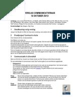 131010 Verslag Communicatieraad Turnhout