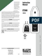 ET300 Instructions