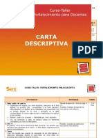 Carta Descriptiva General