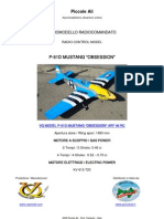 """VQ MODEL RC P-51D MUSTANG """"OBSESSION"""" ARF CLASSE 46"""