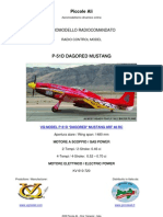 VQ MODEL RC P-51D DAGORED MUSTANG ARF CLASSE 46