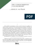 Von Hayek- El Uso Del Conocimiento en La Sociedad