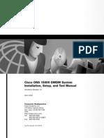15800 DWDM System Installation, Setup, And Test Manual