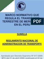 2. MARCO NORMATIVO QUE REGULA EL TRANSPORTE TERRESTRE DE.ppt