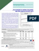 Rapport Pole Emploi 082013