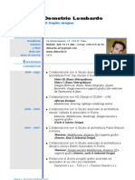 Curriculum Demetrio Lombardo ITA