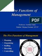 The 5 Functions of Management_Mirjana Dostanic
