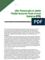 Patto Associativo della Federazione Anarchica Italiana (FAI)