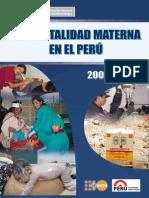 MINSA Mortalidad Materna Peru