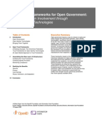 Open Trust Frameworks for Open Gov 2009-08-10