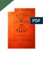 Falange Española de las JONS. Estatutos de 1934