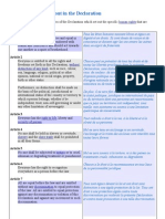 Declaration of Human Rights - Grid