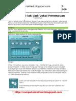 Merubah Suara Vokal Pada Output Relatek HD Audio