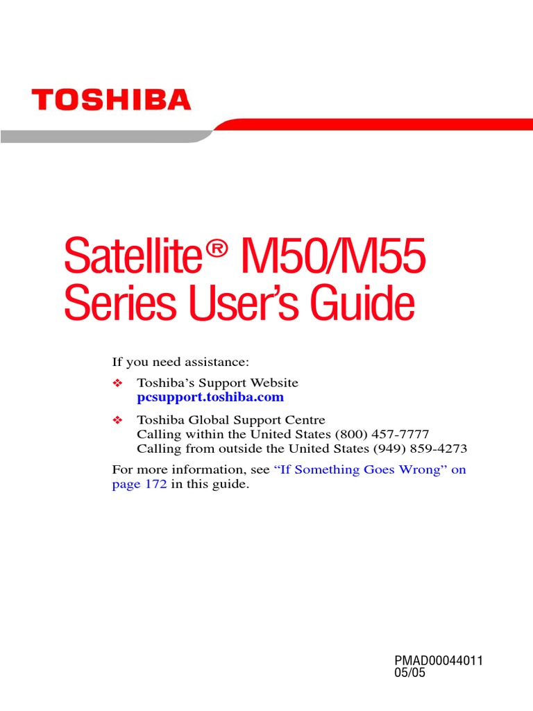 Satellite M50/M55 Series User's Guide: If you need