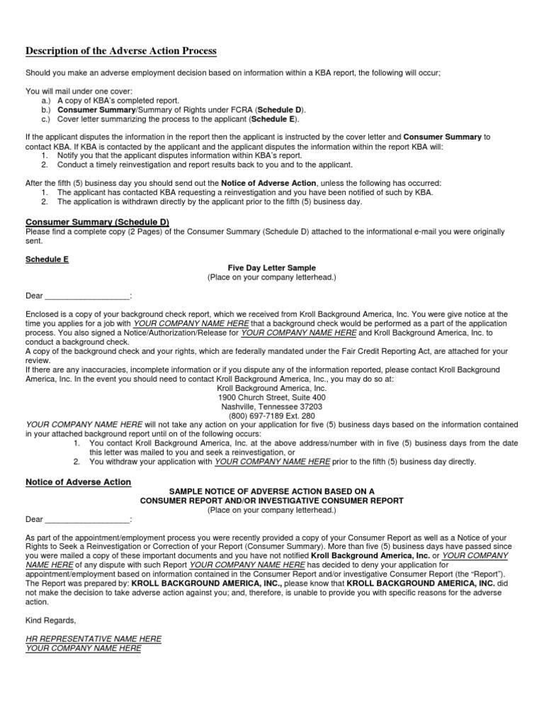 Adverse Action Notice >> Adverse Action Process Background Check Justice