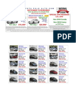 Toyota New, Toyota Certified & Pre-owned Car Specials 09-132009