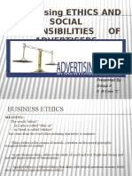 Advertising Ethics and Social Responsiblity