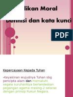 Definisi nilai-nilai untuk SPM